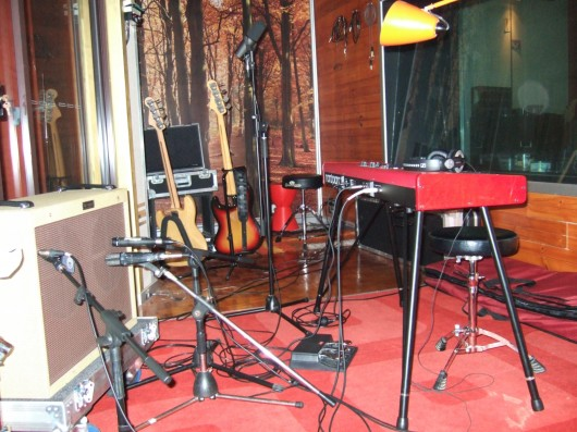 Lucy and her fellas are in the studio recording their follow up EP.