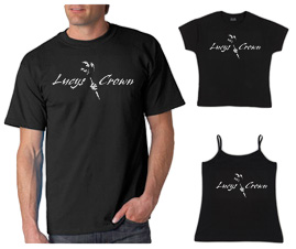 T-Shirt – Lucy's Crown Mask Logo on Black